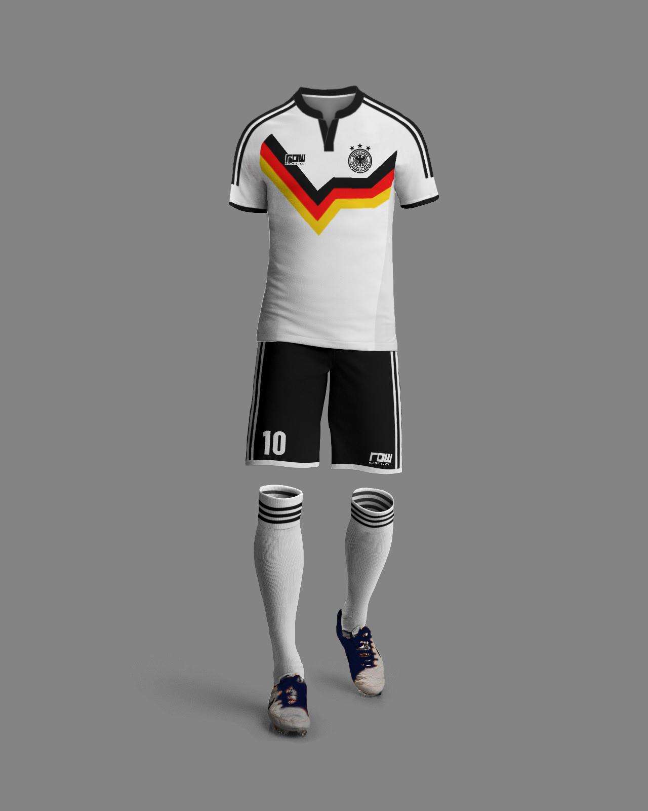dc182d16e0950 Alemania Retro 1. Camiseta Con Números 12990