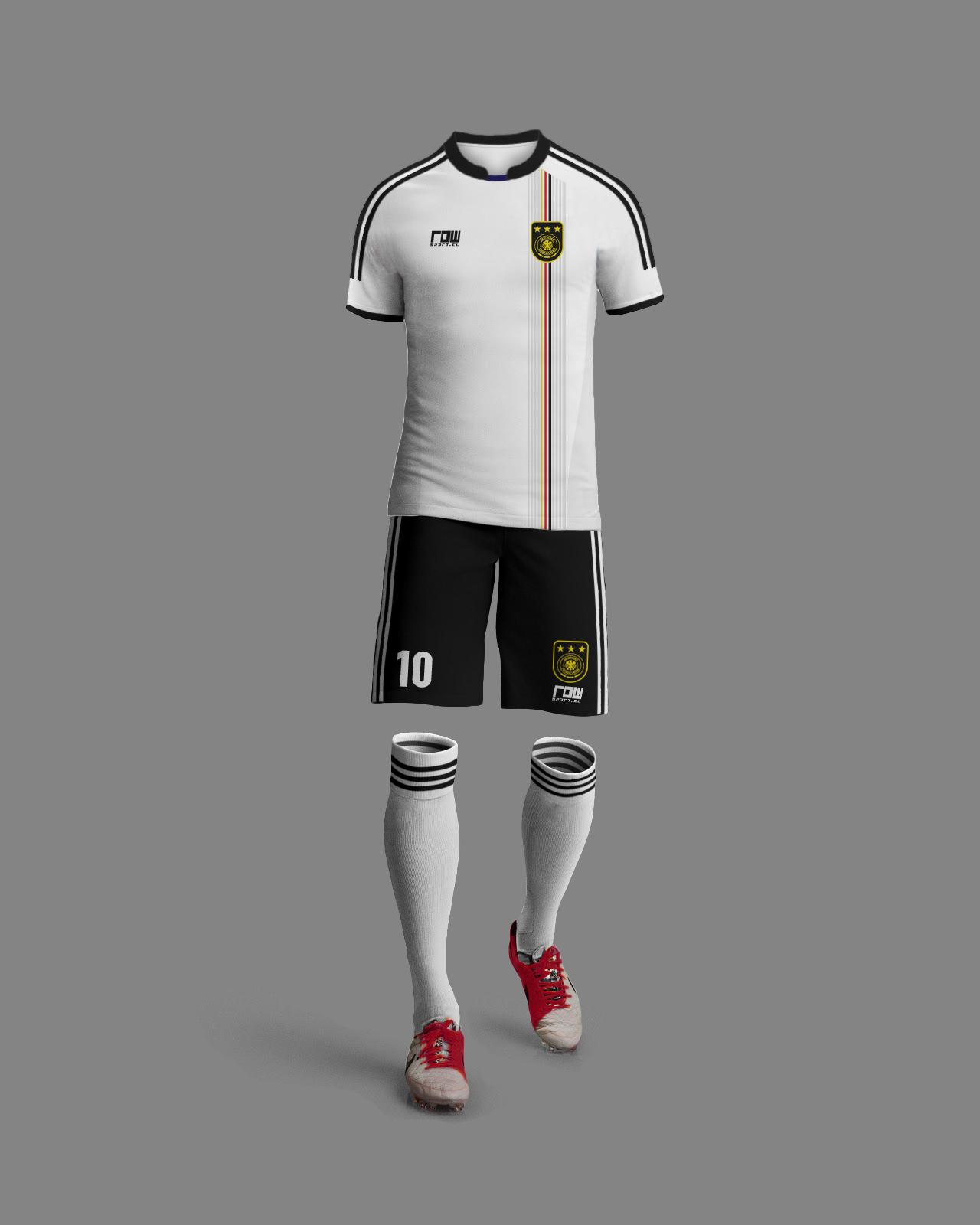 3de3df4bbb479 Alemania Retro 2. Camiseta Con Números 12990